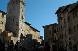 Little square around the tower in San Gimignano., Jenni S - October 2007