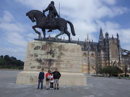 Our family in front of the Batalha Monastery - March 2014 , Andrea M - April 2014
