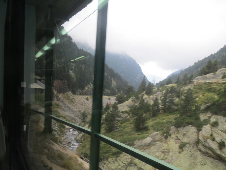 View from the cog train up into the Pyrenees - Barcelona