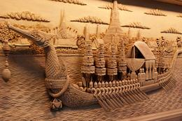Photo of Bangkok Floating Markets and Bridge on River Kwai Tour from Bangkok Amazing wood carving