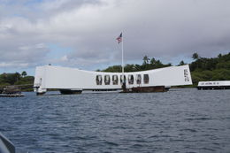 Site of the fallen soldiers on the Arizona Memorial bombed on 7th December 1941 , Angelica - April 2015