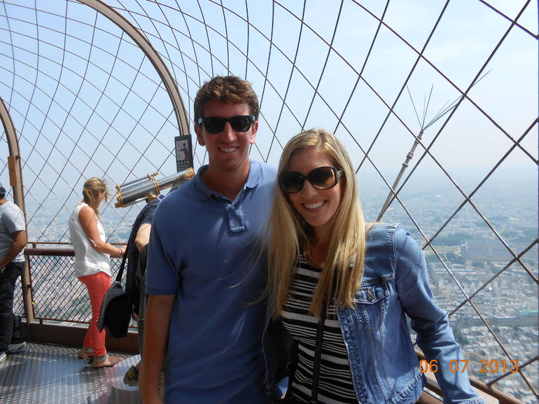 Atop the Eiffel Tower - Paris