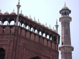 The minaret and detail on the Delhi Mosque , Balti-most - May 2011