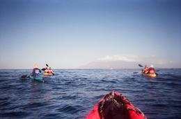 The kayaks were very easy to use. We could see the nearby islands of Kahoolawe and Lanai off in the distance., John C - December 2010