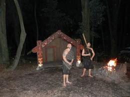 maori dorf tamaki village with locals, Kierra - June 2014