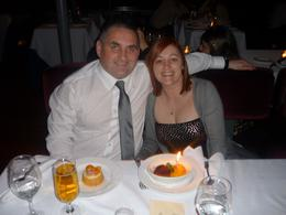 Photo of New York City Bateaux New York Dinner Cruise Our dessert and birthday candle.