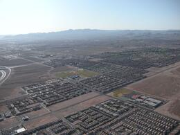 Looking over the Rhodes Ranch area. - April 2010