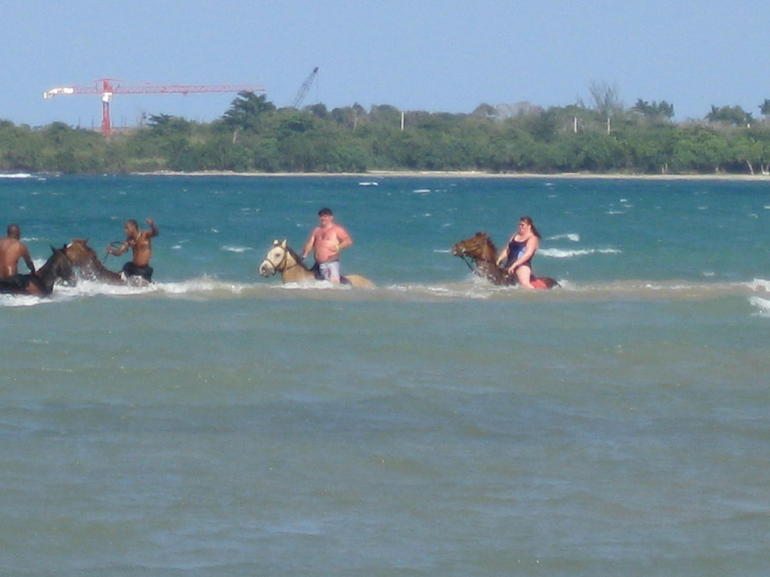 Riding in the water - Jamaica