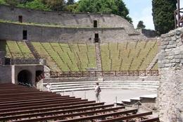 The grand theatre of Pompeii is still used for performances today. - May 2008