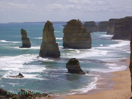 Probably the main reason most people take this tour is to view the Apostles. Spectacular limestone columns perched in the Southern Ocean close to sheer towering cliff walls. , Geoff P - January 2011