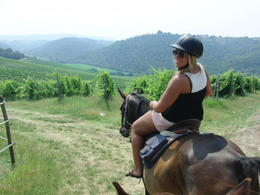 Riding the horse through the fields of wine and grass! , Wes - July 2011