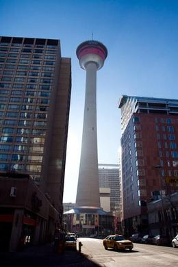 Calgary Tower is just a short walk from the LRT stops Downtown. , Ryan A - April 2012