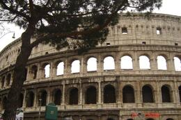 Close up of the Colosseum from the Metro stop. - April 2008