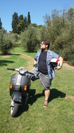 My son and his vespa! , mar - September 2015
