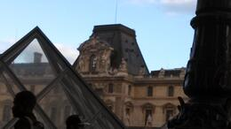Standing outside the Louvre museum , Gracie S - May 2013