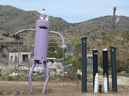 funny purple tin man.... , Madeleine - October 2012