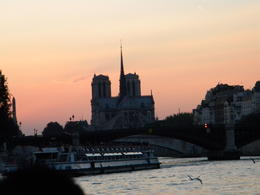 Notre Dame at sunset, this photo doesn't do it justice. , mrustich - September 2012