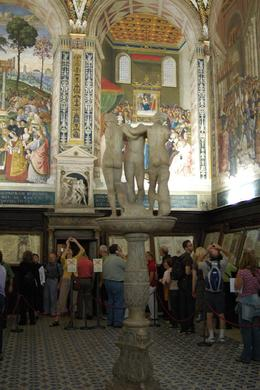 Inside part of the Sienna cathedral, one of the small chapels or sacristy, not sure., Jenni S - October 2007