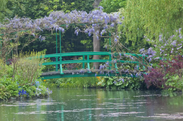 The Japanese Footbridge in Monet's Gardens - Paris
