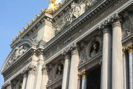 A close up of the Opera Garnier with busts of Beethoven and Mozart., Dipannita B - June 2010