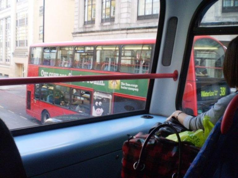 View from a London Bus - London