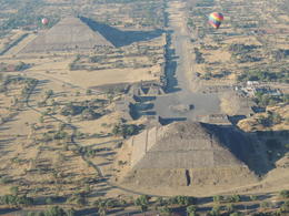 A great view of both pyramids from the balloon. , Kevin F - May 2013