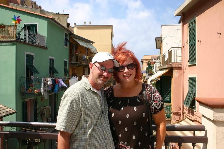 Christina and I in Cinque Terre - Florence