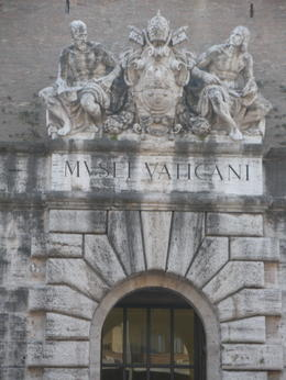 Vatican Museum entrance. It's about 1/2 mile from the St. Peter's Basilica entrance. , Catherine L - October 2012