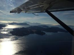 Flight to Victoria. View of Islands , M J S - August 2013