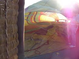 Looking inside the balloon as it inflates. - April 2010