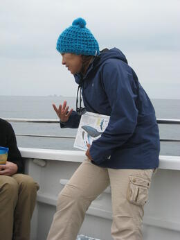 explaining the difference between grey and humpback whales - December 2011