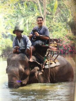 Photo of Pattaya Elephant Ride and Jungle Trek Half-Day Tour from Pattaya Riding the Elephant .