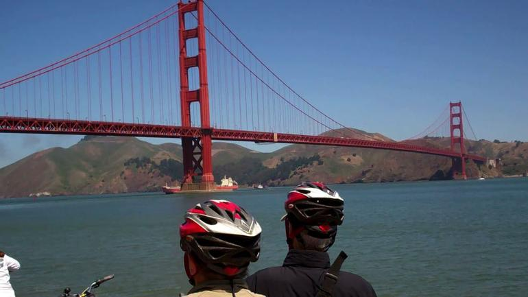 SF Bike Tour - viewing the Golden Gate Bridge - San Francisco