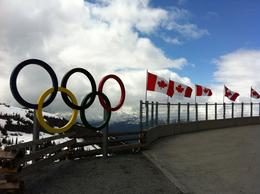 Olympic rings on top of Whistler. , Jude S - July 2013