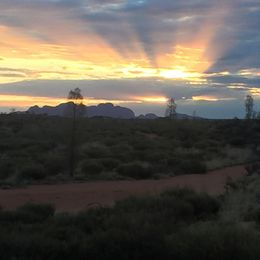 Sunset over Kata Tjuta , Kierra - March 2015