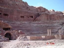 The Theatre was built by the Nabateans but reconstructed by the Romans., Olivia Z - November 2008