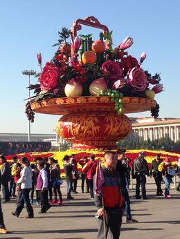 The huge bouquet was created for their national day, celebrated earlier this month. , Rhilda Faye S - October 2013