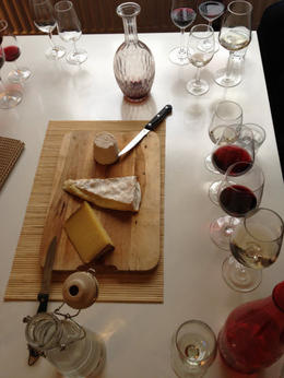 Each Cheese was paired with a wine, but our other group members sometimes disagreed on the best combos!, Balti-most - June 2012