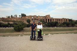 As the photographer in the family, this may be the only picture that I am actually in thanks to our guide Marchello. We are on the track at Circus Maximus, the remains of an arena even larger than ...  - October 2008
