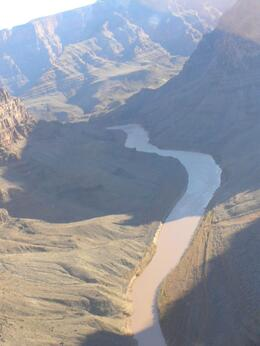 Photo of Las Vegas Grand Canyon All American Helicopter Tour Bird's eye view of the Colorado River