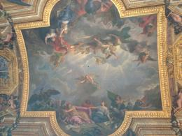 One of the many paintings on the ceiling at Versailles , Melissa Q - September 2013