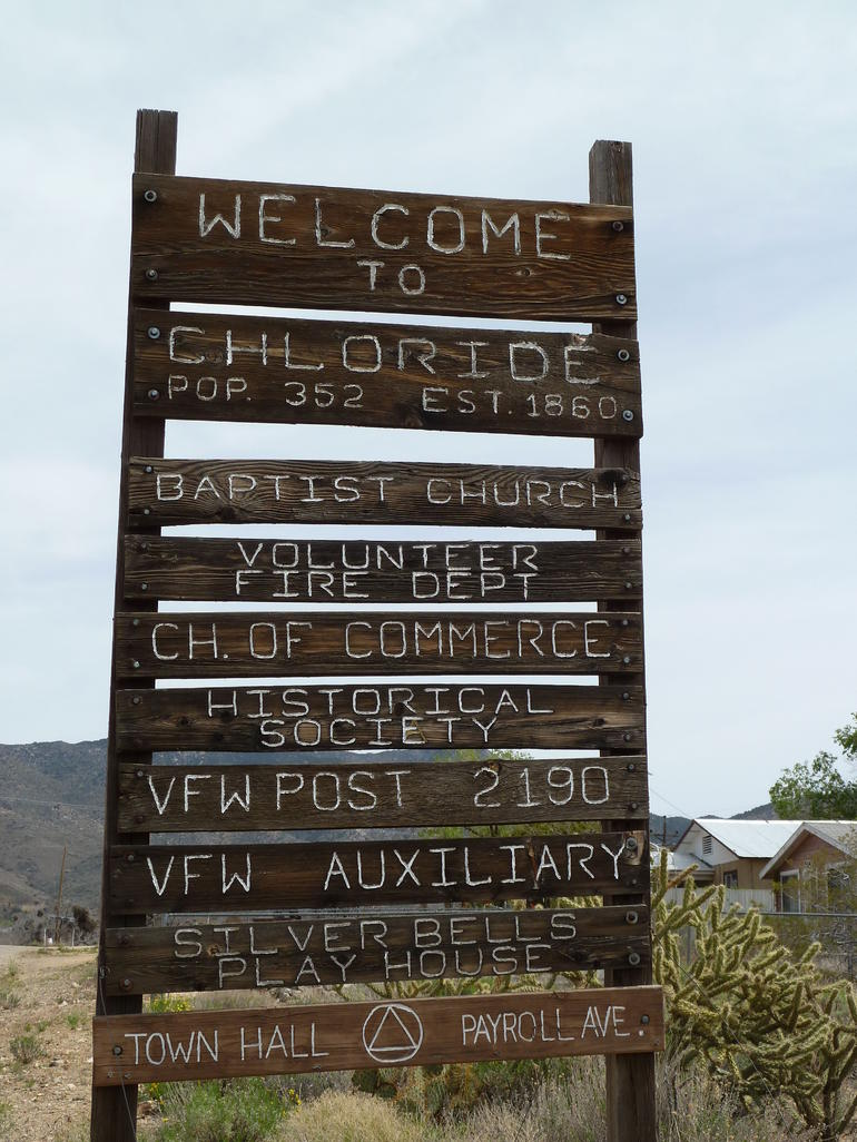 Chloride Ghost Town old sign - Las Vegas