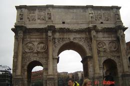 Part of the ancient ruins of Rome near the Colosseum. - April 2008