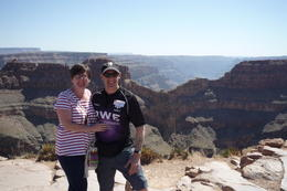 Diane+Kerry at the grand canyon skywalk,Las Vegas. , Kerry H - March 2013