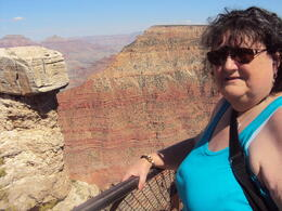 This is my wife 'Jean' with the canyon behind her. , Rodger S - June 2013