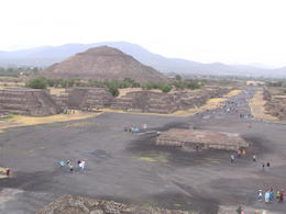 Looking at the Pyramid of the Sun standing on the Pyramid of the Moon. , Paul F I - June 2012