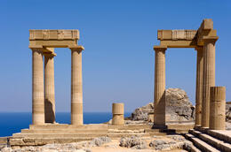 Photo of   Temple in Lindos on Rhodes, Greece