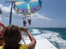 Going up!! Parasailing :) , Tyanne A - April 2011