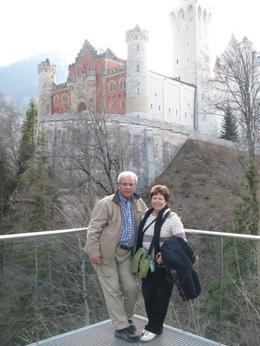 My husband and I standing in front of Neuschwanstein Castle. , Phillip S - March 2014