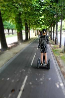 Segway on the bike path in Paris , kinshasha - June 2012